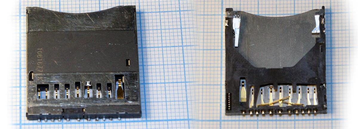 Внешний вид разъема карты памяти Canon 6D