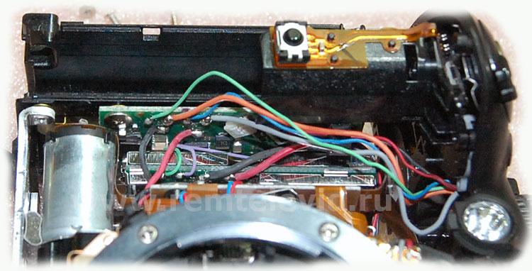 Распайка проводов платы питания зеркальной фотокамеры Nikon d5200
