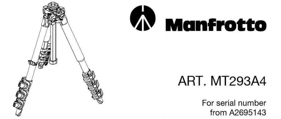 Parts catalog для Manfrotto MT293A4
