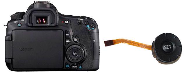 Ремонт джойстика и кнопок управления Canon 6D Canon 60d, 600d