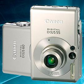 Ремонт фотоаппаратов Canon ixus 55, 60 в Москве