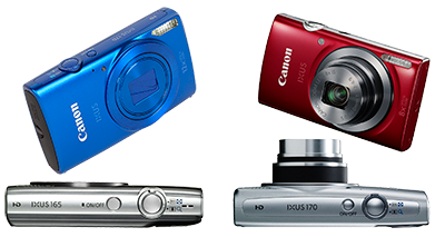 Цифровые фотоаппараты Canon ixus 165, Canon ixus 170 - ремонт объектива, вспышки, карты памяти, замена дисплея