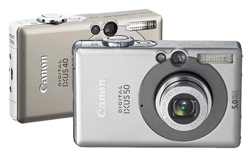 Фотоаппараты Canon ixus 30, Canon ixus 40, ixus 50 - ремонт объектива, вспышки, карты памяти, замена дисплея