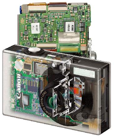 Платы и встроенные вспышки цифровых фотоаппаратов и их ремонт