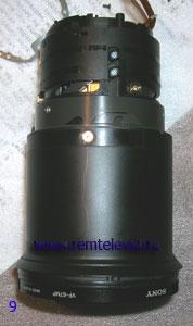 Последовательность разборки объектива фотоаппарата Sony DSC-R1