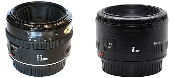 Объективы Canon 50mm f/1.8 первой и второй версии, сроки и стоимость ремонта в Ремтелевид-сервис
