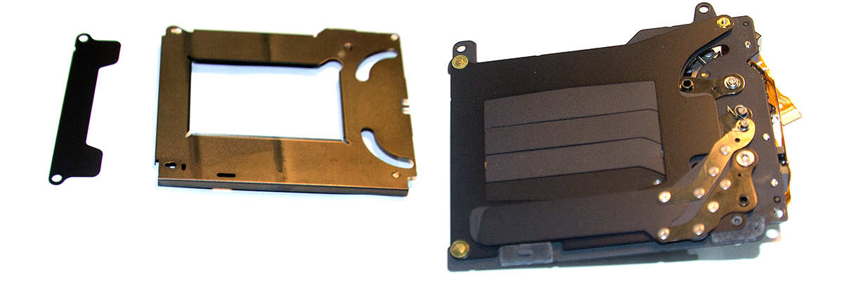 Рамка и прокладка в затворе Canon EOS 5D
