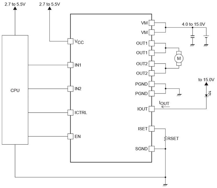 типовая схема драйвера LV8401