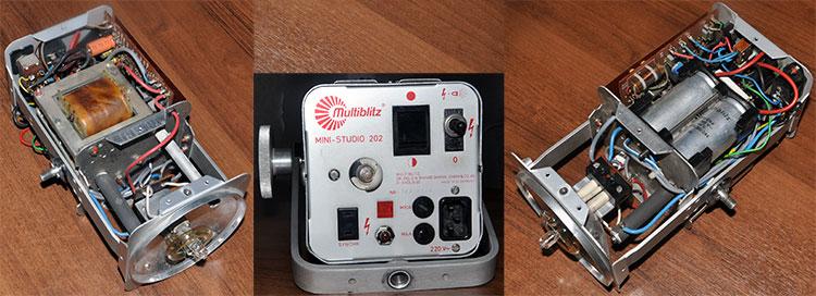 Студийная вспышка Multiblitz mini-studio 202