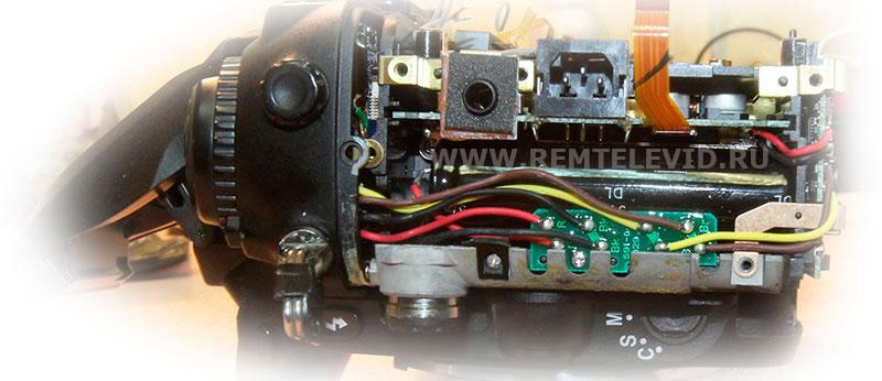Распайка проводов фотокамеры Nikon D200