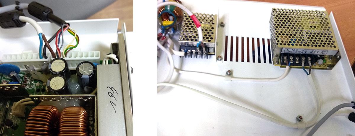 Блоки питания Orbitvu, раскладка проводов