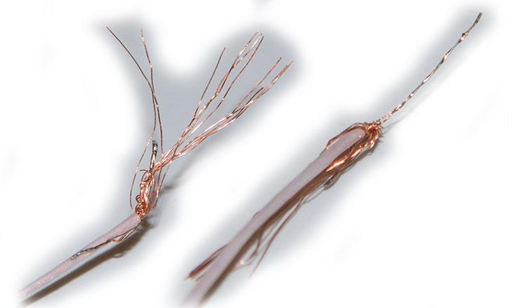 многожильный провод для ремонт шлейфа объектива