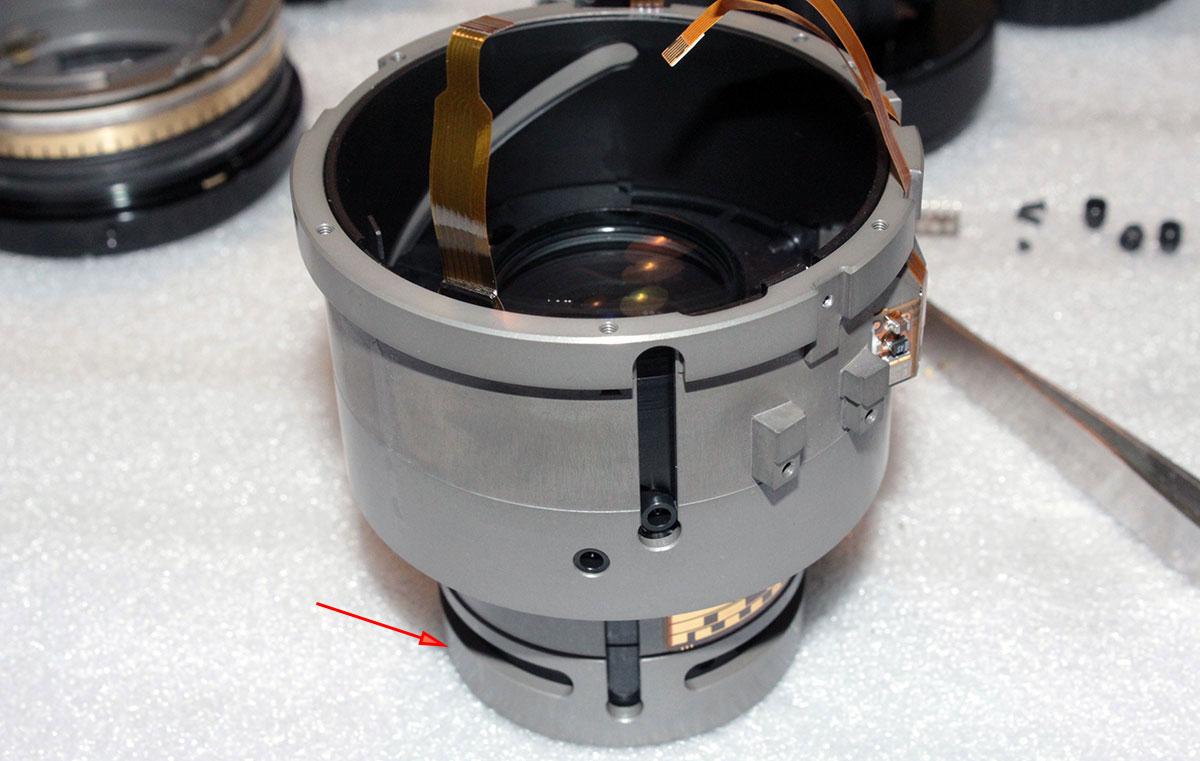 Ремонт объектива Sigma 105mm F2.8 DG Macro HSM, восстановление геометрии тубусов