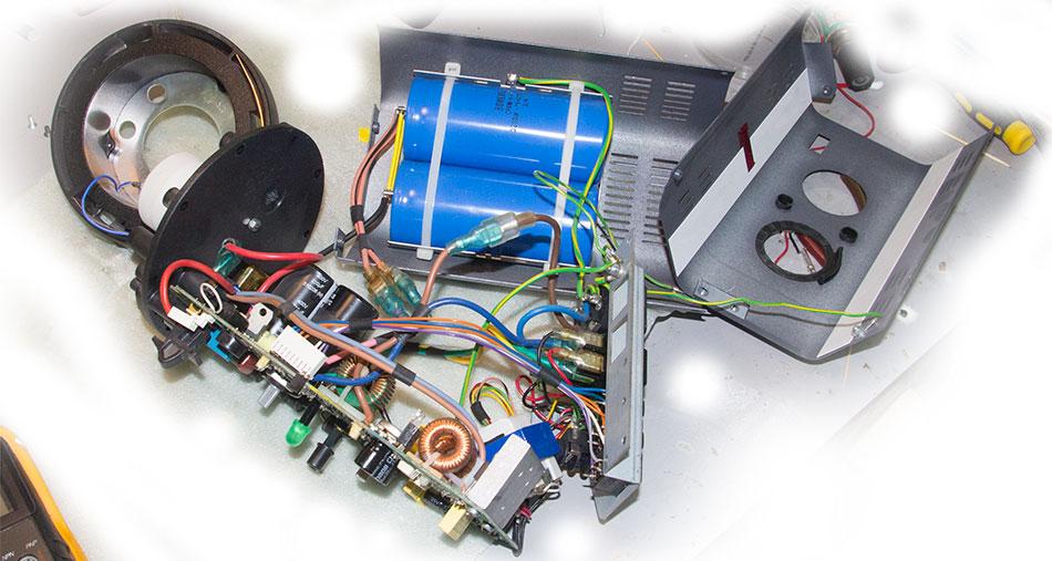 Конструкция, внутренности студийной вспышки Bowens BW 3610
