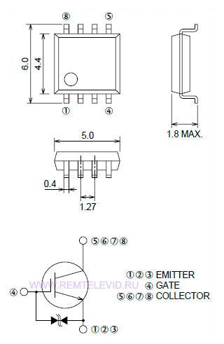 Транзисторный ключ 25aaj для фото вспышки