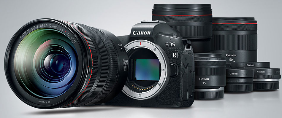Беззеркальная фотокамера Canon EOS R с объективами RF
