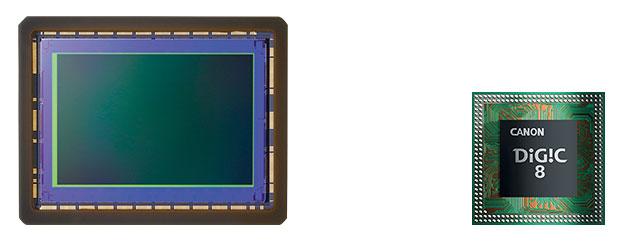 Матрица фотоаппарата Canon EOS R и процессор обработки изображения DIGIC 8