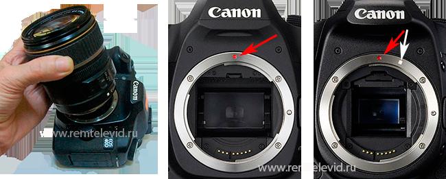 Как правильно устанавливать объективы на фотоаппараты canon