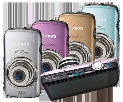 Ремонт компактных фотоаппаратов Canon модели ixus 200, ixus 210