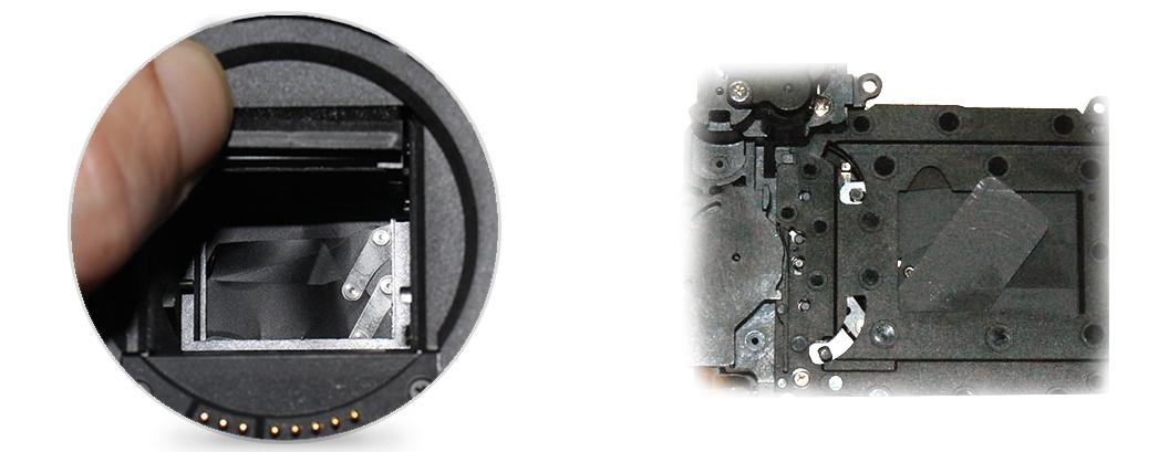 Неисправности, ремонт и замена затвора в Canon EOS 450D