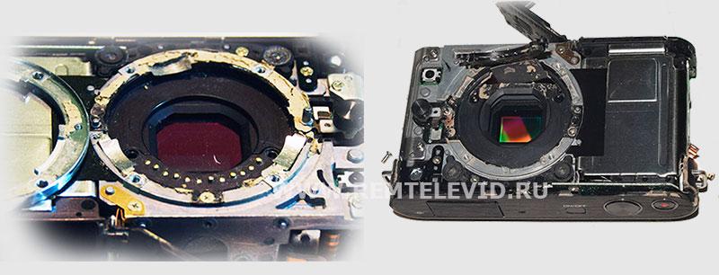 Неисправная контактная группа фотоаппарата Nikon 1 J2