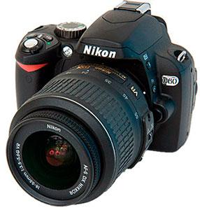Ремонт зеркальных фотокамер nikon d60