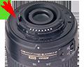 ремонт объективов Nikon, замена пластикового кольца крепления объектива