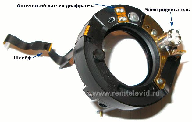фото блока диафрагмы объектива для зеркальных фотоаппаратов