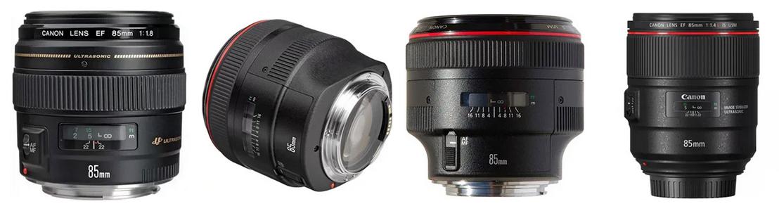 Объективы Canon 85mm линейки EF и RF, сроки и стоимость ремонта в Ремтелевид-сервис
